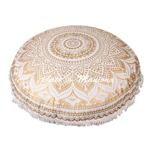 Gold Floor Cushion Cover